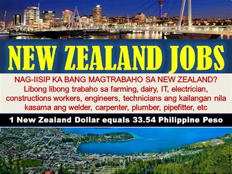 new zealand job 2016 june and july job orders approved by poea for new zealand
