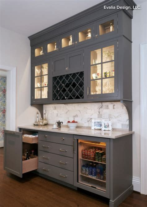 butlers pantry bar cabinet  wine storage beverage