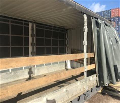 curtain sided containers for sale 45ft hc pallet wide curtain side container cbox containers