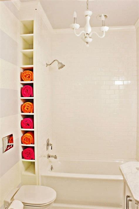 small bathroom space ideas diy bathtub surround storage ideas hative