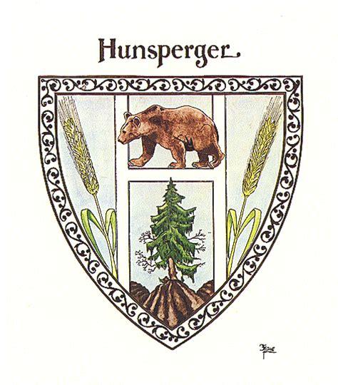 the hunsberger family crest