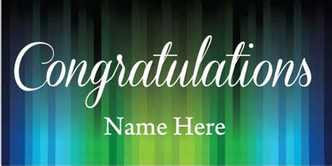 Wedding Congratulation Signs by Congratulations Banner Stripes