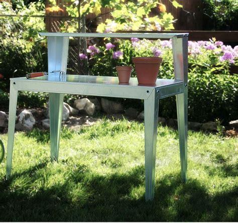 gardening work benches steel potting table garden workbench
