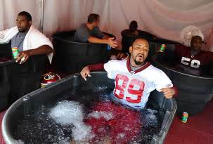 ice bath then hot shower what s the day after like for an nfl player nfl