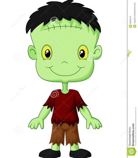 cartoon frankenstein kid stock vector image