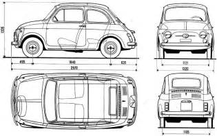 Dimensions Of Fiat 500 Fiat 500 Blueprint Free Blueprint For 3d Modeling
