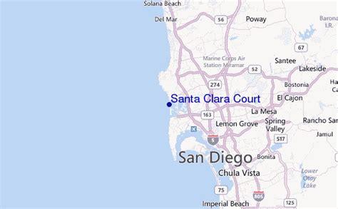 santa clara usa map santa clara court surf forecast and surf reports cal