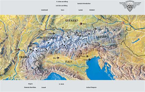 swiss alps switzerland map alps
