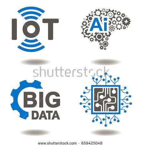iot ai big data microchip vector stock vector 659425048 shutterstock