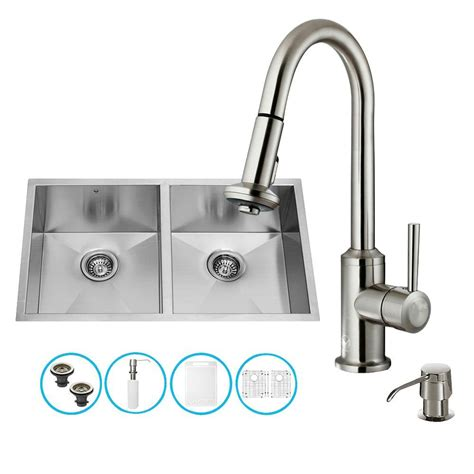 all in one kitchen sink vigo all in one undermount stainless steel 32 in single