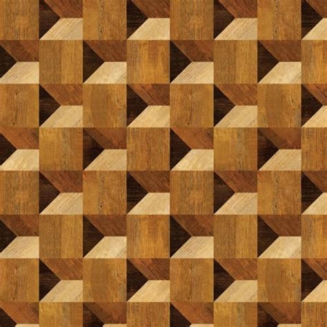 Square Feet To Square Meter by Cube Illusion Wood Veneer Pattern