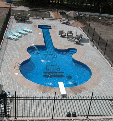 guitar shaped swimming pool beautiful piano and guitar shaped swimming pools