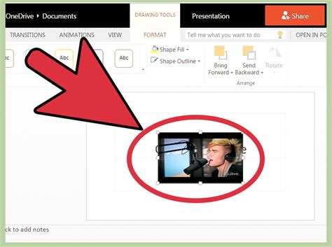 put  video  powerpoint  steps  pictures
