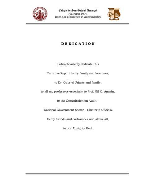 Recommendation Letter Ojt narrative report in ojt