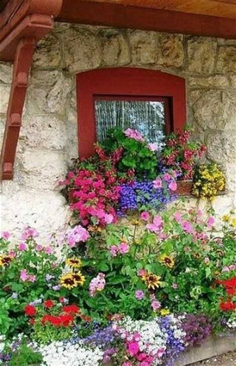 Cottage Of Flowers by Cottage Window Box Bouquet Idea For Painting