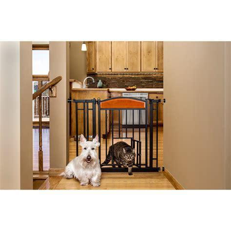 Pet Door Reviews by Carlson Pet Design Studio Walk Through Pet Gate With Small