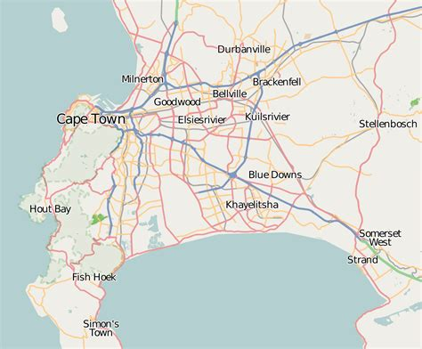 cape town south africa map a traveller s guide to cape town south africa