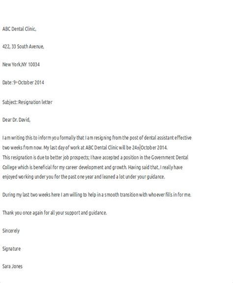 10 resignation letters free word pdf format