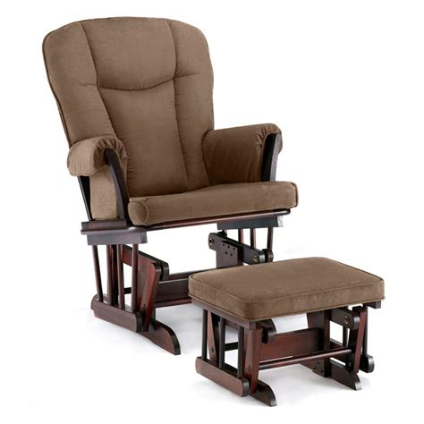 glider rocker and ottoman shermag glider and ottoman espresso chocolate
