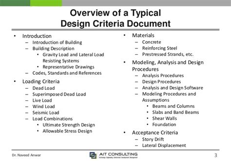 Design Criteria Document | ce 72 32 january 2016 semester lecture 3 design criteria