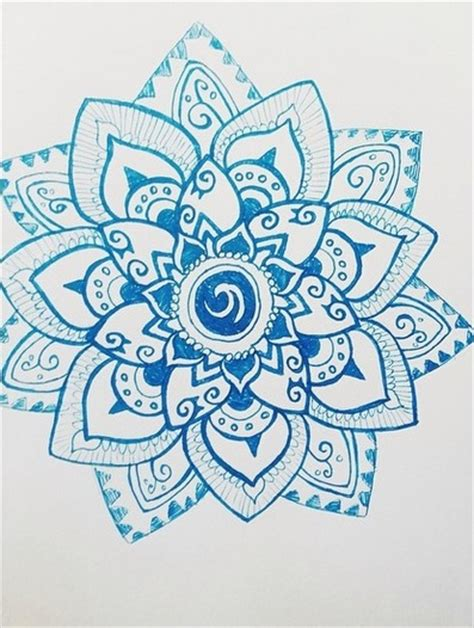 Boho Pattern Drawing | blue boho flower by hayhayitsjay on deviantart