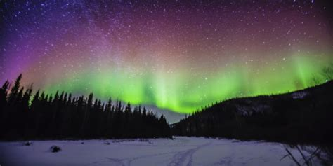 best place to see northern lights in canada northern lights likely visible over canada friday and