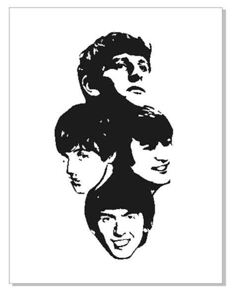 Kaos The Beatles Logo Stencil vector beatles vordy