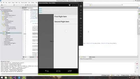 xamarin android the layout could not be loaded xamarin android tutorial 27 creating a right and left