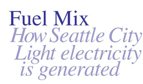 Seattle City Light Phone Number by Seattle City Light Fuel Mix