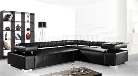 adjustable back sectional sofa black leather modern sectional sofa bt 0597 disco