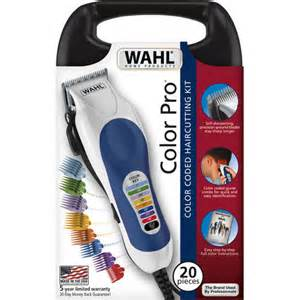 wahl 79300 400 color pro 20 complete haircutting kit wahl corded color pro 20 color coded haircut kit