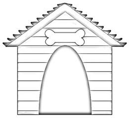 Dogs Kennel Colouring Pages sketch template