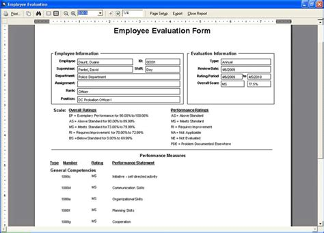 employee evaluation report sle 28 images sle employee