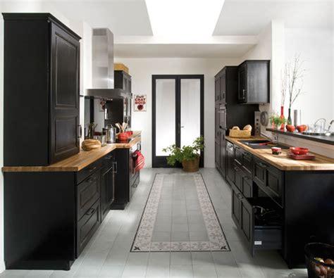 cuisine noir laque organisation meuble de cuisine noir laque