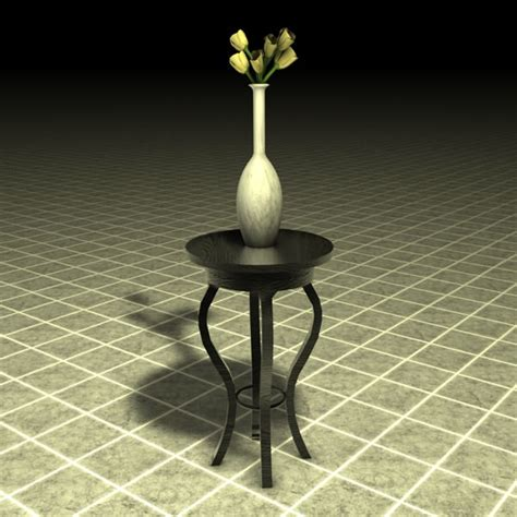 Flower Vase Stand by Stand Table With Vase And Flowers 3d Model Max Obj 3ds Fbx C4d Cgtrader