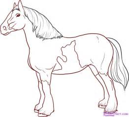 how to draw a horse step by step easy