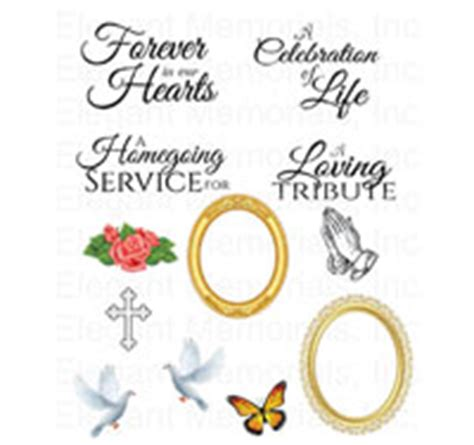 free memorial card template with messianic symbols poems funeral clipart frames