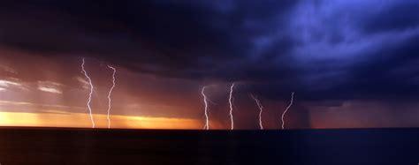 wallpaper night sky lightning storm evening wind