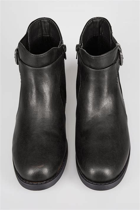 too old to buy a house black chelsea ankle boot with buckle detail in eee fit