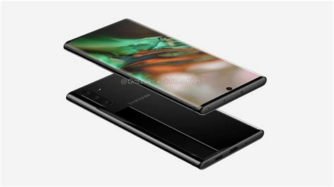 leaked samsung galaxy note 10 renders reveal centered pin no headphone or