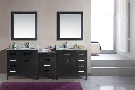 Adorna 92 inch Double Sink Bathroom Vanity Espresso Finish