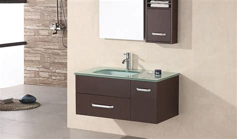 design element christine  single sink wall mount vanity set  espresso