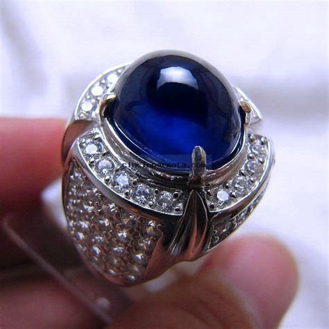 Batu Safir Mulia batu mulia blue safir cincinpermata jual batu permata batu mulia asli murah