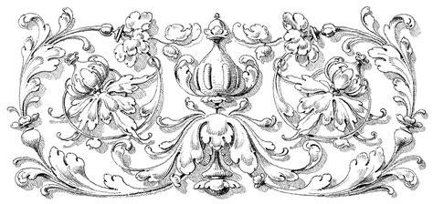 antique design antique clip art romantic scrolls the graphics fairy