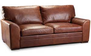 seattle vintage aniline leather 3 seater sofa mocha only