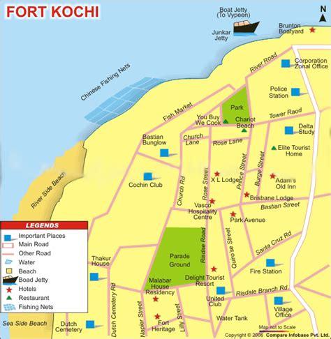 fort morong resort map fort cochin destination kerala travels