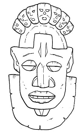 printable zulu mask zulu african masks coloring pages coloring pages