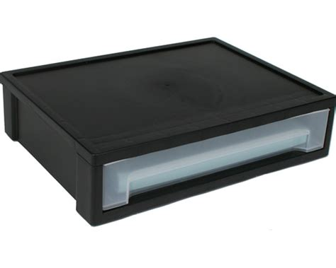 Plastic Stacking Drawers by Large Stacking Storage Drawer Black In Storage Drawers