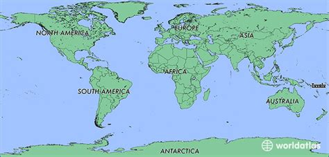 tuvalu on world map where is tuvalu where is tuvalu located in the world