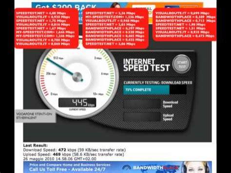 speed test vodafone station velocit 224 della vodafone station comparazione speed test